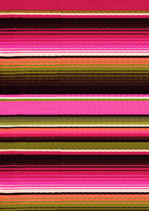 "12"" x 17"" Pink Orange Serape Zarape Print Mexico Colorful Background Pattern HTV Sheet"