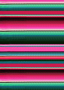 "12"" x 17"" Pink Serape Zarape Print Mexico Colorful Background Pattern HTV Sheet"