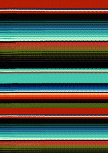 "12"" x 17"" Teal Maroon Serape Zarape Print Mexico Colorful Background Pattern HTV Sheet"