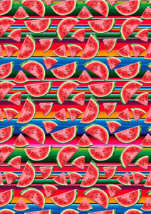"12"" x 17"" BRAND NEW Serape Watermelon Mexico Colorful Background Pattern HTV Sheet"
