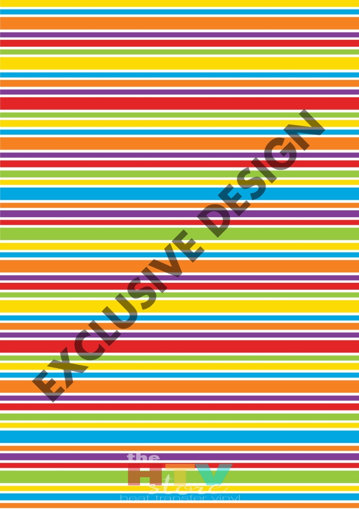 Colorful Horizontal Stripes Pattern Htv 12 X 17 Sheet