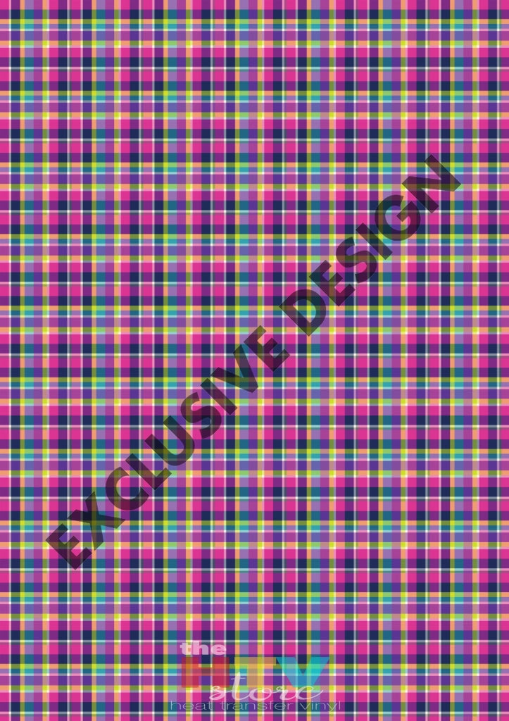 Colorful Plaid 4 Pattern Htv 12 X 17 Sheet