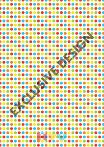Colorful Polka Dots Pattern Htv 12 X 17 Sheet