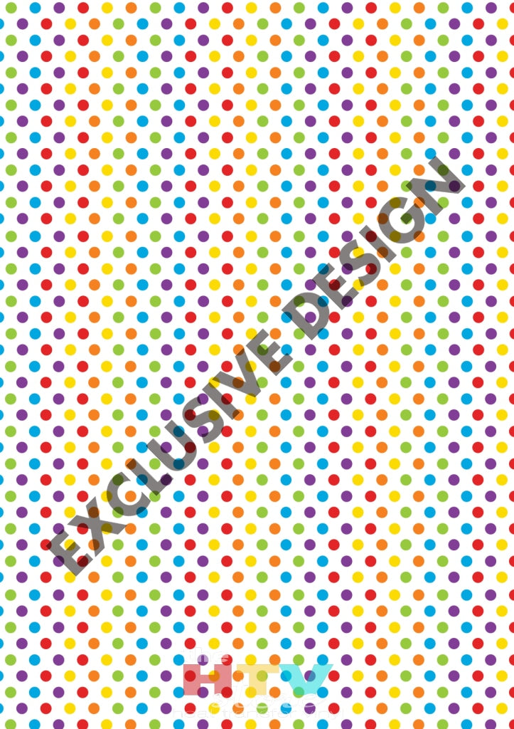 Colorful Rainbow Polka Dots Pattern Htv 12 X 17 Sheet