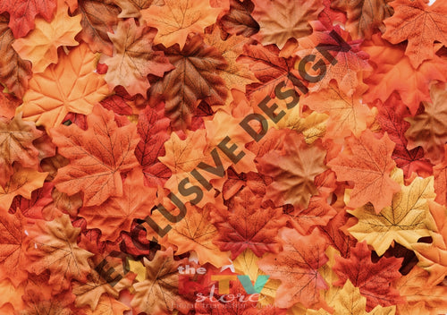 Fall Leaves Photo Htv 12 X 17