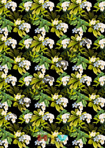 Flower White Black Pattern Htv 12 X 17 Sheet
