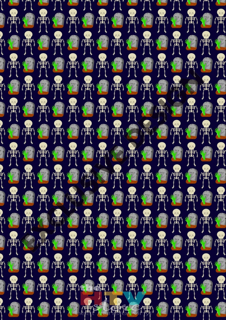 Graveyard Skeletons Htv 12 X 17 Sheet Pattern