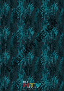 Green And Blue Leaves Pattern Htv 12 X 17 Sheet