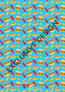 Hamburgers And Hotdogs Blue Htv 12 X 17 Sheet Pattern