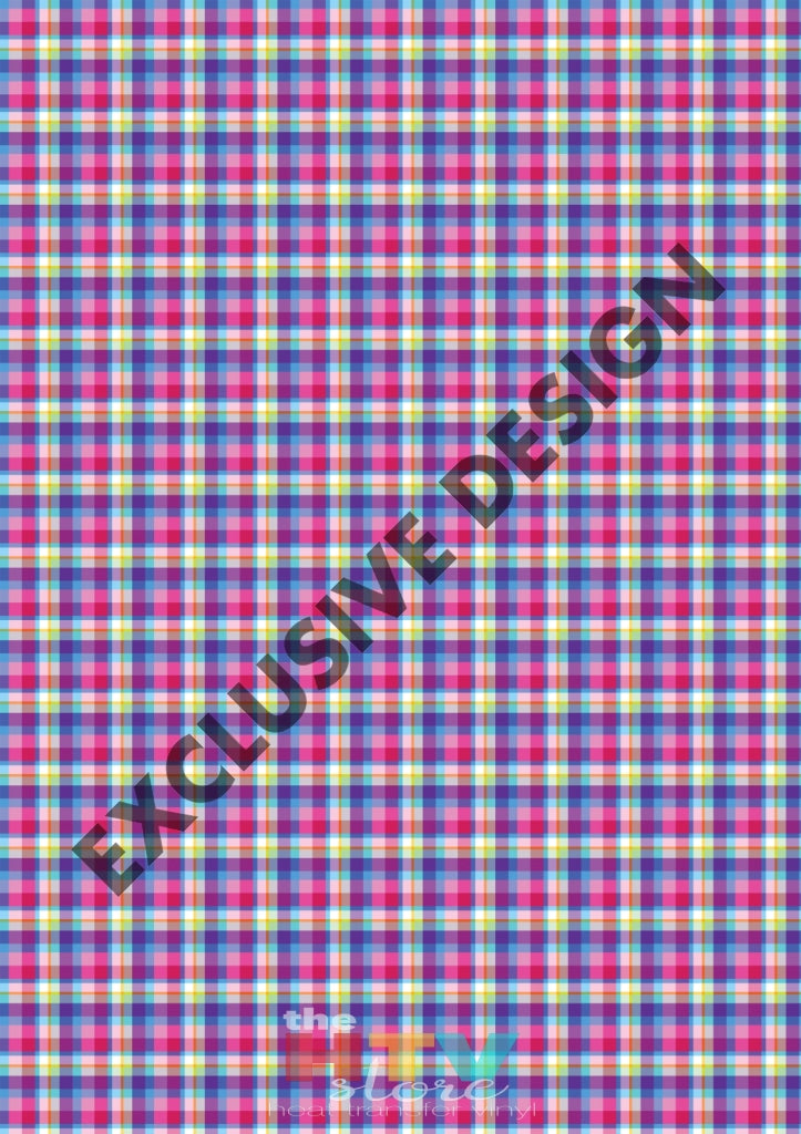 Large Colorful Plaid Pattern Htv 12 X 17 Sheet