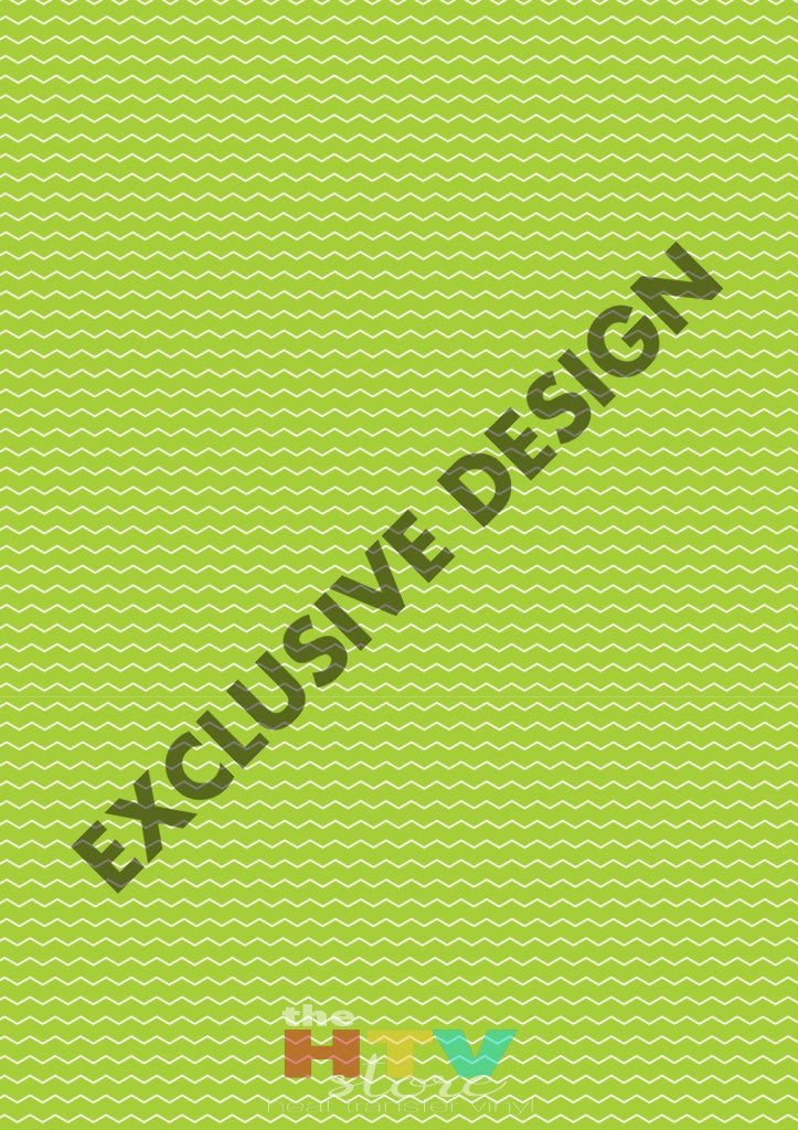 Lime Green Zig Zag Pattern Htv 12 X 17 Sheet