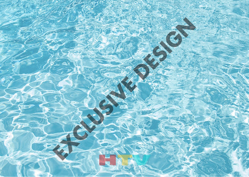 Pool Water Photo Htv 12 X 17
