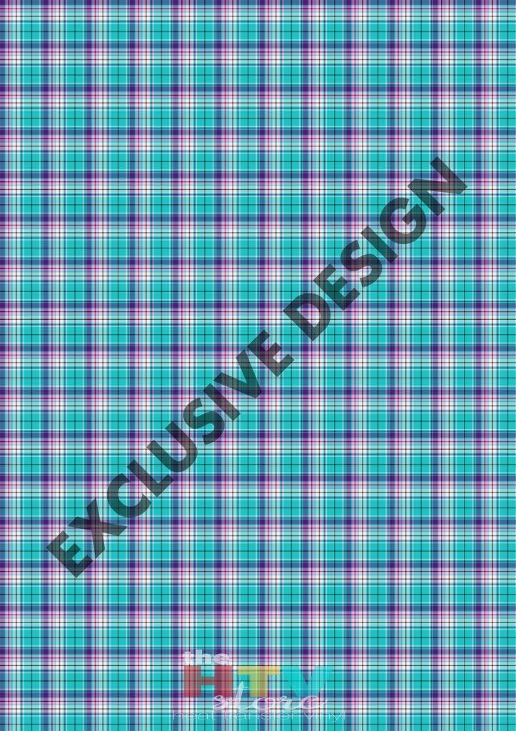 Teal And Purple Plaid Pattern Htv 12 X 17 Sheet