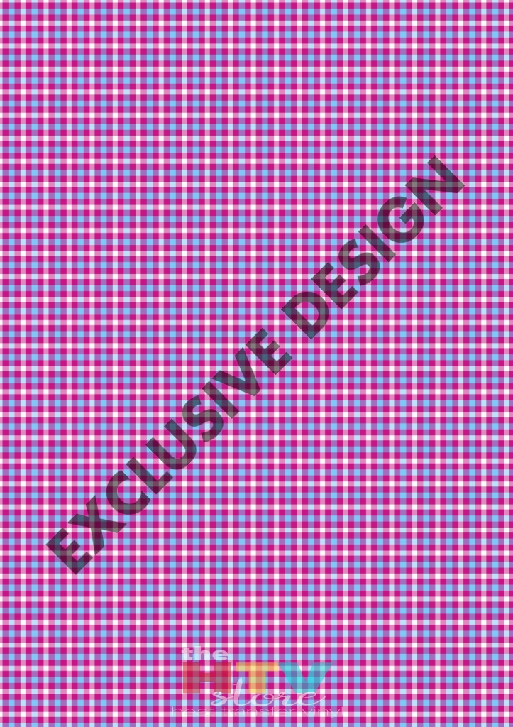 Teal And Purple Small Plaid Pattern Htv 12 X 17 Sheet