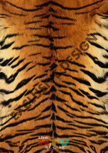 Tiger Fur Pattern Htv 12 X 17 Sheet