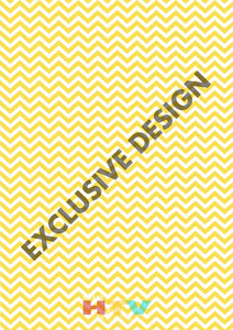 Yellow And White Chevron Pattern Htv 12 X 17 Sheet