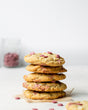 Ruby Chocolate and Macadamia Cookies