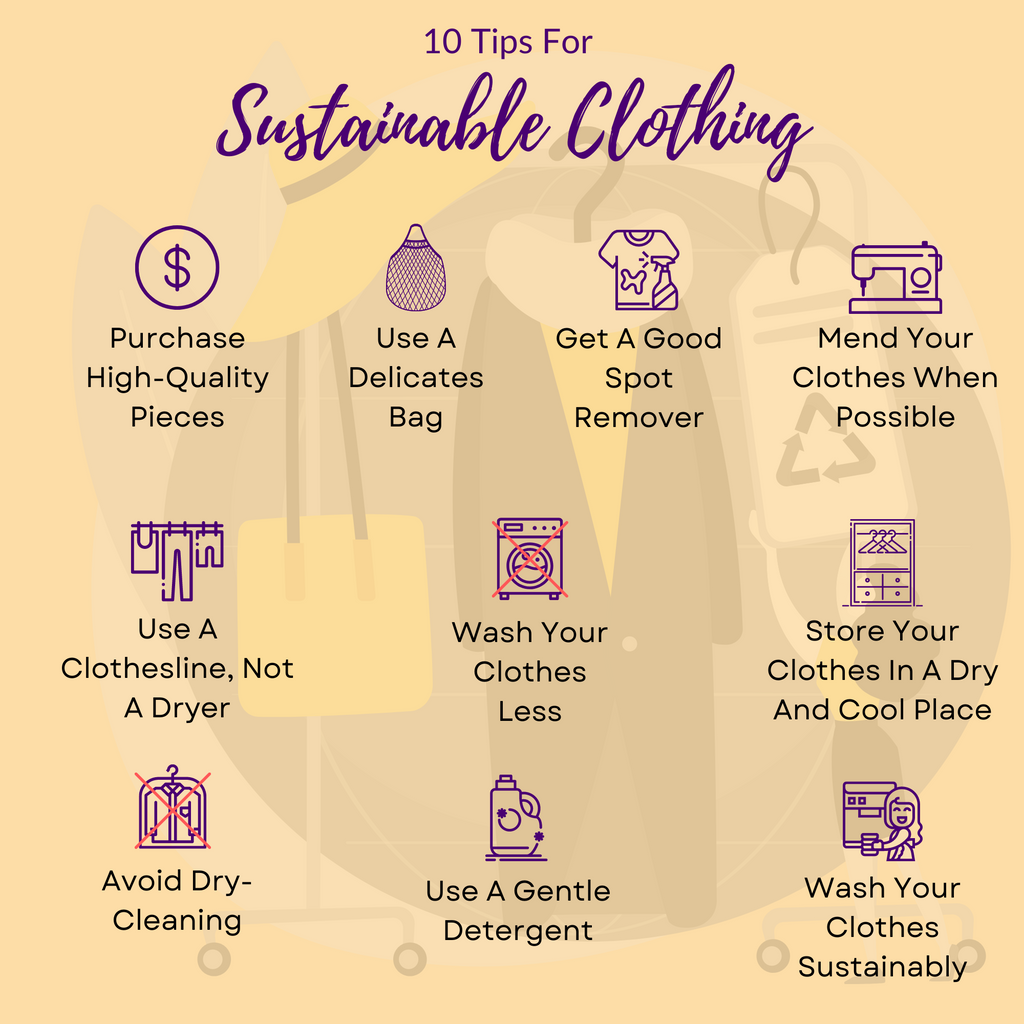10 Tips For Sustainable Clothing - Infographic