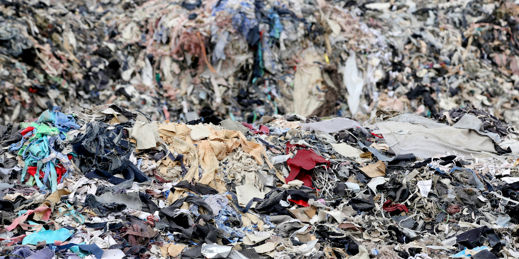 Textile landfill somewhere in the world
