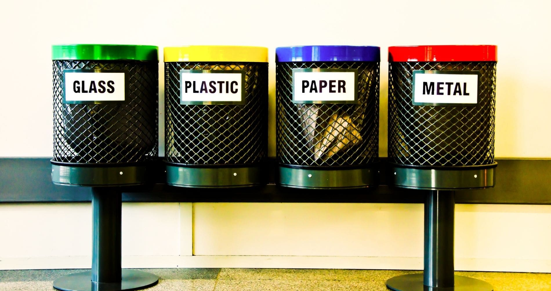 our office recycling bins