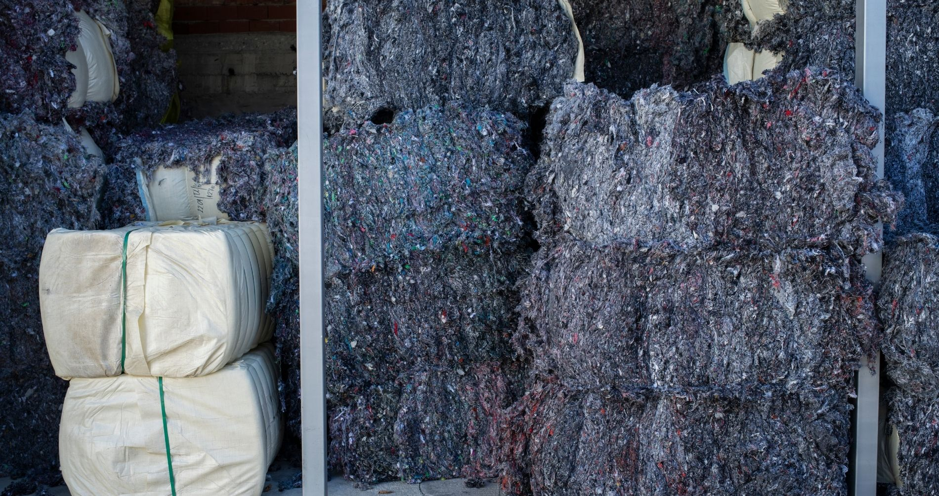 old fabrics meant for recycling