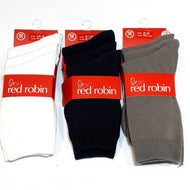 Red Robin 3pk Calf Length School Socks