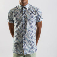 James Harper Tropical Palm Short Sleeve