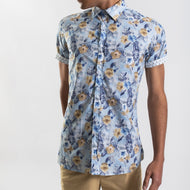 James Harper Tropical Floral Print Short Sleeve