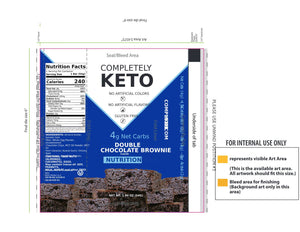 Completely Keto™ 12 Nutrition Meal Replacement Bars [Double Chocolate Brownie]