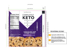 Load image into Gallery viewer, Completely Keto™ 12 Nutrition Meal Replacement Bars [Chocolate Chip Cookie Dough]