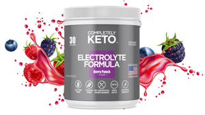 Completely Keto™ Electrolytes Formula (Berry Punch Flavor) Buy 3 Tubs & Get 2 Tubs Free!