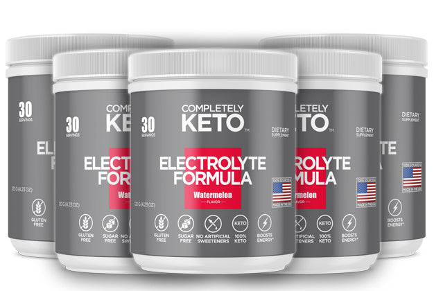 Completely Keto™ Electrolytes Formula (Watermelon Flavor) Buy 3 Tubs & Get 2 Tubs Free!