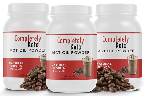 3 Tubs of Completely Keto™ Mocha MCT Oil Powder