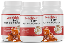 Load image into Gallery viewer, 3 Tubs of Completely Keto™ Salted Caramel MCT Oil Powder