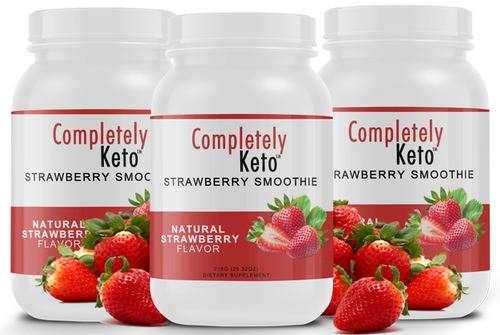 3 Tubs of Completely Keto™ Strawberry Smoothie
