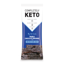 Load image into Gallery viewer, Completely Keto™ 12 Nutrition Meal Replacement Bars [Double Chocolate Brownie]