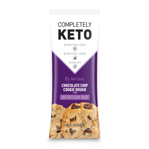 Completely Keto™ 12 Nutrition Meal Replacement Bars [Chocolate Chip Cookie Dough]