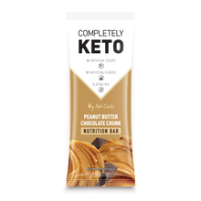 Load image into Gallery viewer, Completely Keto™ 12 Nutrition Meal Replacement Bars [Peanut Butter Chocolate Chunk]