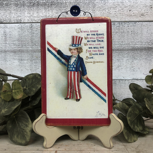 Vintage Postcard Plaque Decor - Young America
