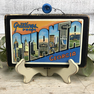 Vintage Postcard Plaque Decor - Atlanta Georgia