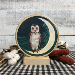 "Vintage Postcard Cut-Out Decor - ""Midnight Owl"""