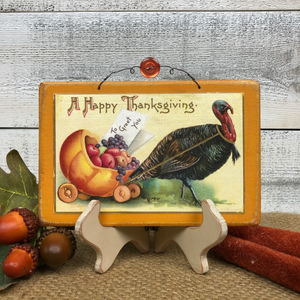 "Vintage Postcard Plaque Decor - ""Turkey Carriage"""