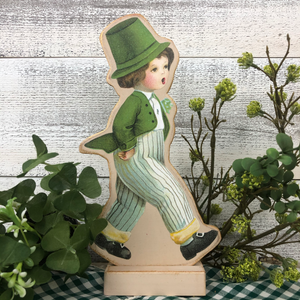 "Vintage Postcard Cut-Out Decor - ""Lucky Liam"""