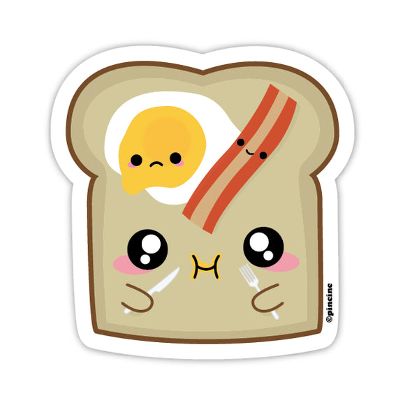 Bacon & Eggs on Toast Sticker