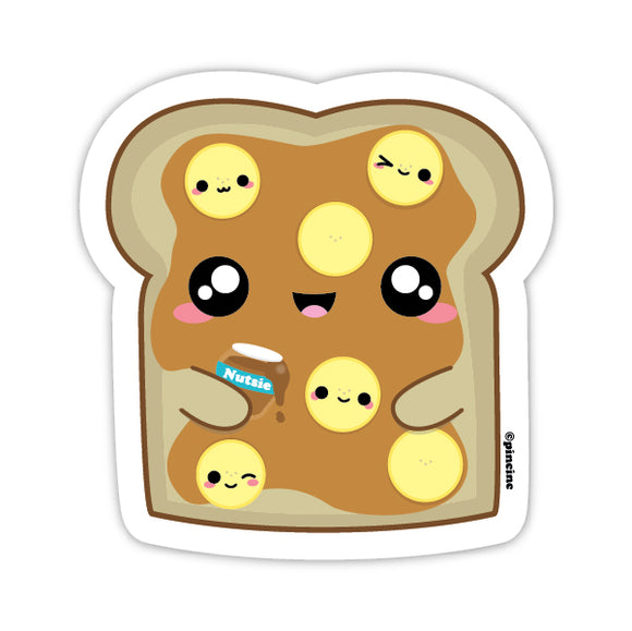 Peanut Butter & Banana Toast Sticker