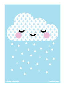 Sleepy Rain Cloud Print