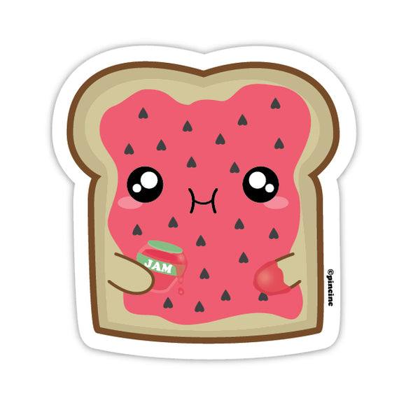 Strawberry Jam Toast Sticker