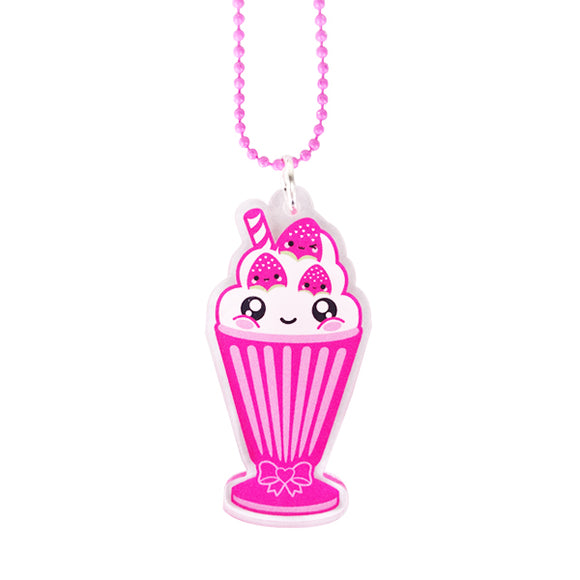 Strawberry Milkshake Necklace