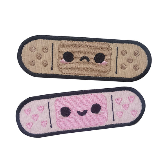 Happy & Sad Plasters Embroidery Patches