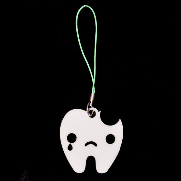Sad Tooth Phone Charm